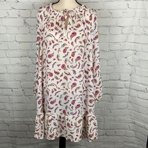 Summer Dress with Floral Paisley Bouquets